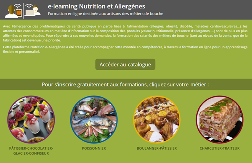 E-learning Nutrition & Allergènes